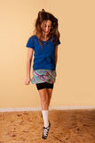 Teenage girl dancing Stock Images