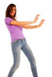 Teenage girl dancing Stock Image