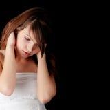 Teenage girl depression Royalty Free Stock Images
