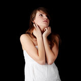 Teenage girl depression Royalty Free Stock Photos