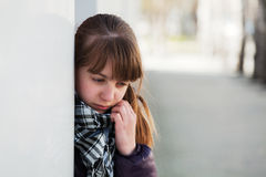 Teenage girl in depression Stock Photos