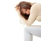 Teenage girl depression - lost love royalty free stock image