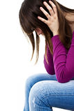 Teenage girl depression - lost love Royalty Free Stock Photography