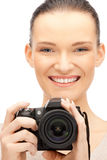Teenage girl with digital camera Royalty Free Stock Image