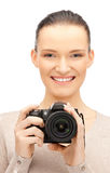 Teenage girl with digital camera Stock Photography