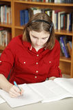 Teenage Girl Does Homework Royalty Free Stock Photo