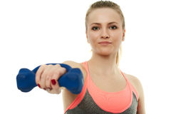 Teenage girl doing fitness workout Royalty Free Stock Images