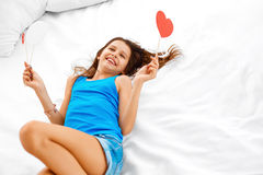 Teenage girl dreaming about love. Stock Photos