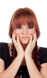 Teenage girl dressed in black with a piercing Royalty Free Stock Image