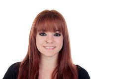 Teenage girl dressed in black with a piercing Royalty Free Stock Photography