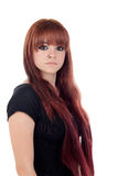 Teenage girl dressed in black with a piercing Stock Image