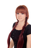 Teenage girl dressed in black with a piercing in the nose Royalty Free Stock Images