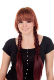 Teenage girl dressed in black with a piercing in the nose Royalty Free Stock Image