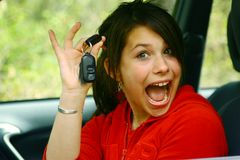 Teenage Girl Driver Stock Image