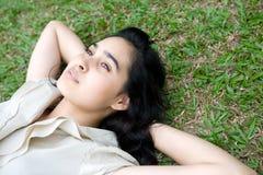 Teenage girl enjoying the outdoor Royalty Free Stock Images