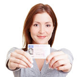 Teenage girl with European driving stock images