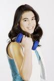 Teenage girl exercising Royalty Free Stock Photography