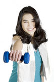 Teenage girl exercising Stock Image