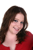 Teenage girl with eyeliner and a nose ring Stock Images