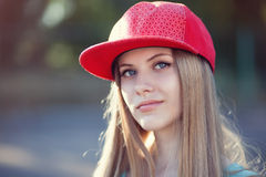 Teenage girl face Royalty Free Stock Photos