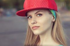 Teenage girl face Stock Photos