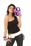 Teenage girl  with  face mask Royalty Free Stock Photos