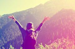Teenage girl feel freedom. Royalty Free Stock Photos
