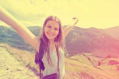 Teenage girl feel freedom. Stock Photography