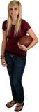 Teenage Girl With Football Stock Photos