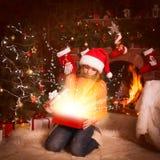 Teenage girl with gift Stock Photo