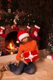 Teenage girl with gift Stock Photography