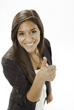Teenage Girl Giving The Thumbs up Sign Stock Images