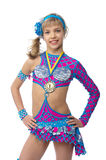 Teenage girl gymnast with a medal Stock Image