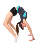 Teenage girl in gymnastics poses Royalty Free Stock Photo