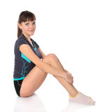 Teenage girl in gymnastics poses Stock Image