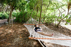 Teenage girl in a Hammock Royalty Free Stock Images