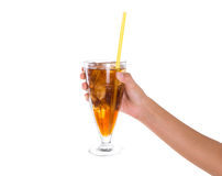 Teenage Girl Hand Holding Drink IV Stock Images