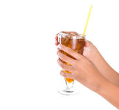 Teenage Girl Hand Holding Drink IX Royalty Free Stock Photo