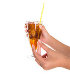 Teenage Girl Hand Holding Drink VI Stock Photo