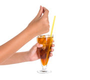 Teenage Girl Hand Holding Drink VII Stock Photos