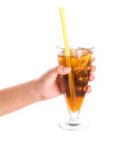Teenage Girl Hand Holding Drink VIII Royalty Free Stock Photo