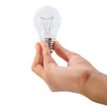 Teenage Girl Hand Holding Lightbulb Royalty Free Stock Photo
