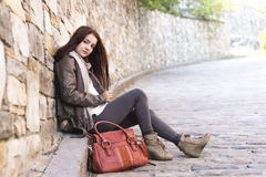 Teenage girl handbag Stock Photos