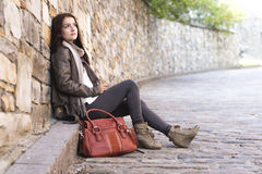 Teenage girl handbag Royalty Free Stock Image