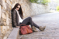 Teenage girl handbag Royalty Free Stock Photography
