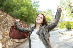 Teenage girl handbag Royalty Free Stock Images