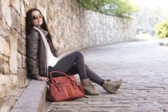 Teenage girl handbag Stock Photo
