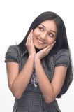 Teenage girl with happy expression Royalty Free Stock Image