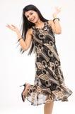 Teenage girl with happy mood Stock Photo