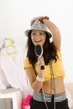 Teenage girl having fun at home Royalty Free Stock Photography